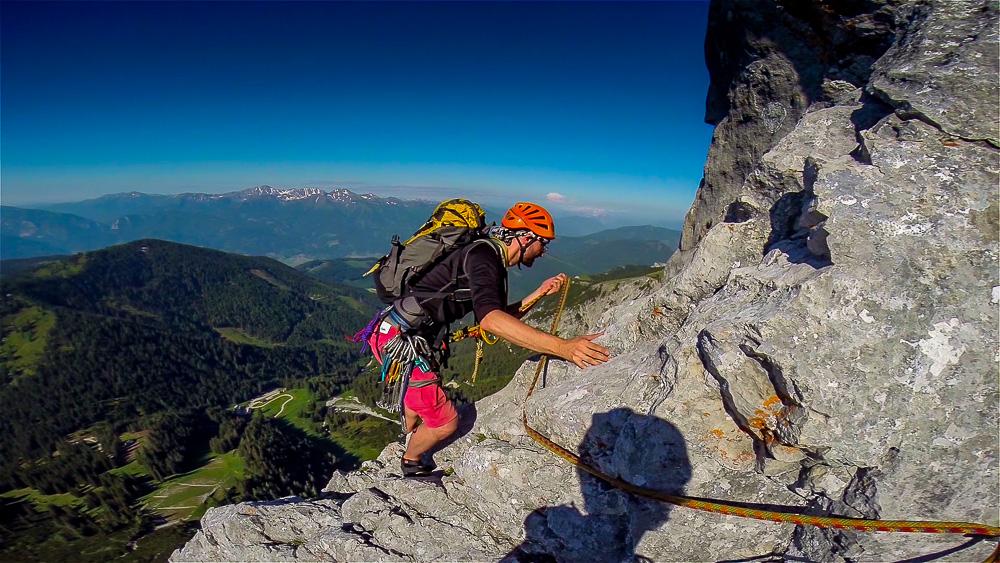 Climbing Kalbling Südgrat (6-, 360m)